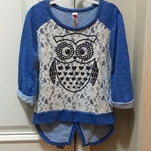 2 for $15💙Beautees Owl Top